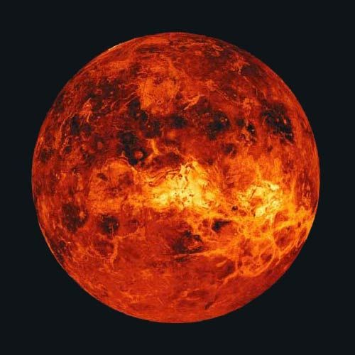 Although Venus is only the planet second nearest the sun, its dense, toxic atmosphere traps heat in a runaway version of the greenhouse effect that warms up the Earth. As a result, temperatures on Venus reach 870 degrees F (465 degrees C), more than hot enough to melt lead.