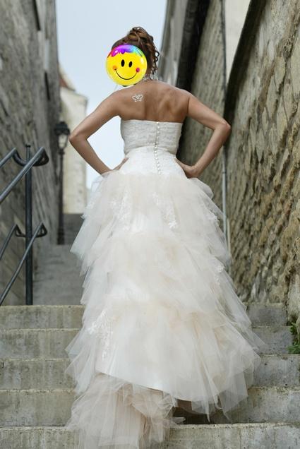 Robe de mariée de créateur Rosi Strella courte devant et longue ...