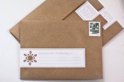 Christmas card address labels... cool!