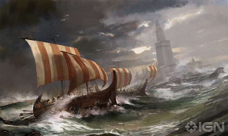 Viking ships, from Civilization game