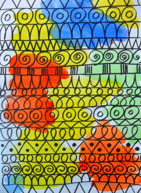 Fun art for kids: drawing patterns.