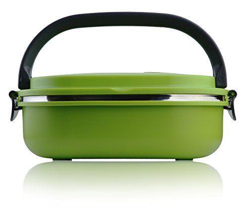 http://ift.tt/1TbwzoH LeOx- Kompaktes Lunchbox Edelstahl Bento Box mit Tragegriff Picknick Dose Brotzeitdose Vesperdose Edelstahl Food Container Aufbewahrung Dose Frühstück to go  Grün %(cebity)!$