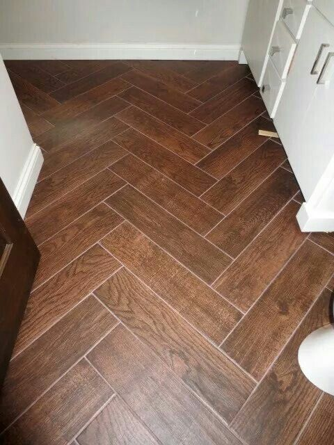 Wood Look Tile Love The Color Not Herringbone Design Though