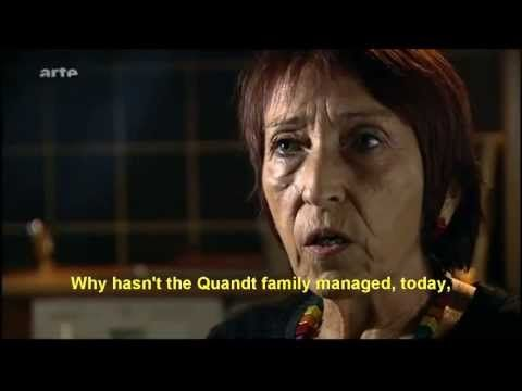 The Silence of the Quandts family. (English subtitles) This billionaire family, owners of BMW, got their start w/ bona fide Nazi party members Guenther Quandt  son Herbert, war-crimes profiteers who used slave laborers (Jews, Slavs, Greeks, POWs) toiling under lethal conditions--80/month die--on company (AFA  VARTA) grounds, staffed by brutal SS guards, w/ electrified fencing. British gov't. stonewalled Nuremberg prosecutors b/c Herbert Quandt knew how to bring AFA/VARTA back up to…