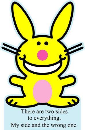 LOVE Happy Bunny.