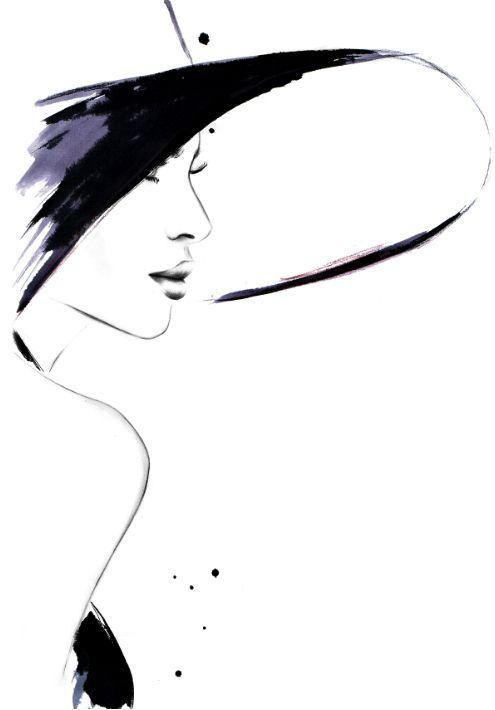 "fashion illustrations by kornelia dębosz — ""Cappuccino Flirt"" inspiration: a photo with...:"