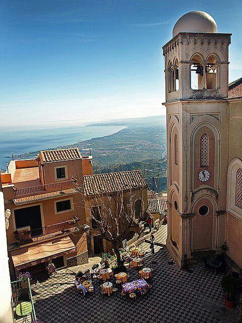 Castelmola, Sicilië, Italië