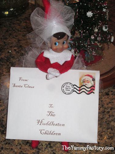 Elf on the Shelf letter from Santa.  You can download a copy for your little ones for Free on my site.  Comes with Magic garden Instructions and Seed Printables.