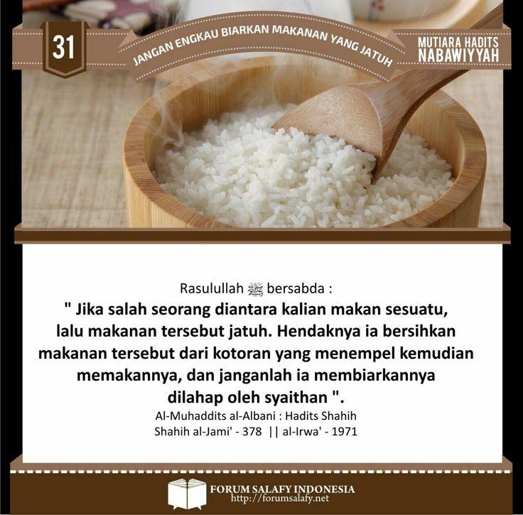 Galeri Poster Dakwah Ahlussunnah: Jangan Engkau Biarkan Makanan Yang Jatuh