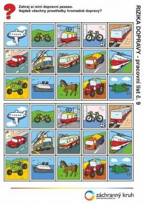 Dopravní výchova - Dopravní pexeso, Záchranný kruh