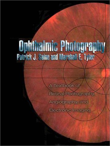 Ophthalmic Photography: A Textbook of Retinal Photography, Angiography, and Electronic Imaging:   This is an excellent resource and should be on hand in every office and clinic. Anyone interested in the art and practice of ophthalmic photography should have a copy of this comprehensive and practical book devoted exclusively to both basic and advanced retinal photography techniques, including fundus photography, and retinal and choroidal angiography.