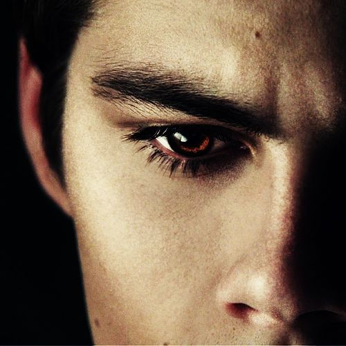 I usually like green eyes or blue eyes on a boy... But his eyes are sooo beautiful too! <3