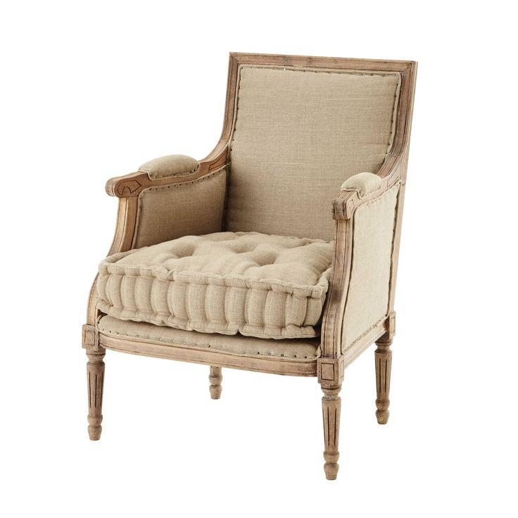 Linen armchair Casanova Linen armchair, Armchair, Chic