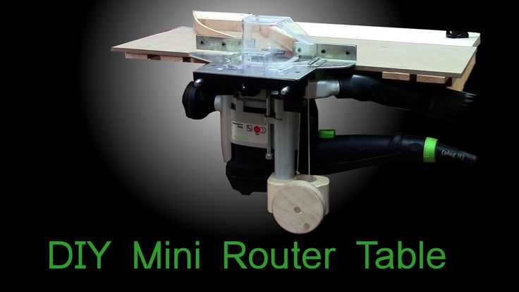 DIY mini router table with a simple router lift based on Festool OF 1010 - YouTube