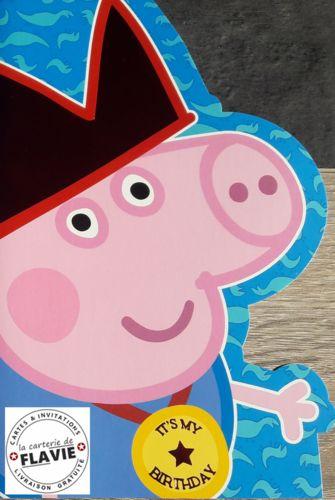 Cartes Peppa Pig pour offrir à un anniversaire, livraison gratuite à retrouver sur notre site http://lacarteriedeflavie.com/Carte-anniversaire-licence/Peppa-PigAccéder au produit