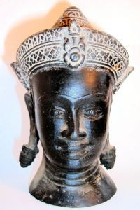 14 best khmer arts images on pinterest buddha bronze and cambodia khmer bronze head of buddha h 72 ca early to mid 20th century from cambodia malvernweather Choice Image
