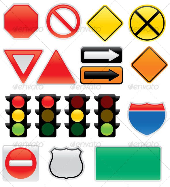 Map And Traffic Signs And Symbols $3.00