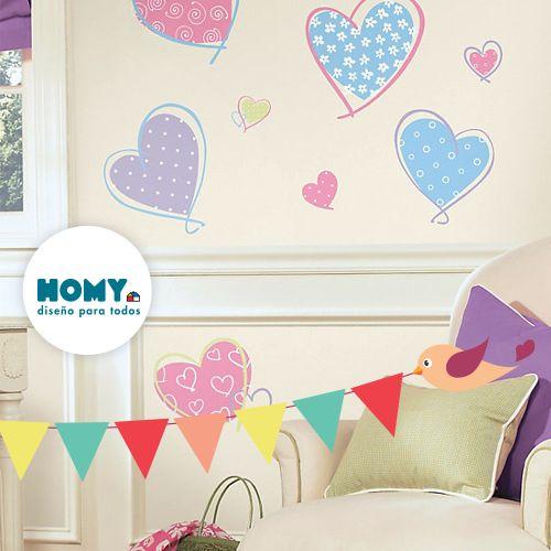 #Deco #Homy #Muro #corazones #banderines #Marketplace