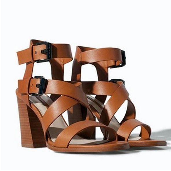 118e7c811ae Sandals Womens Strappy Hollow Open Toe Leather Chunky Shoes Fashion Heels  C411  DesignerWomenShoes  WomensDressShoes