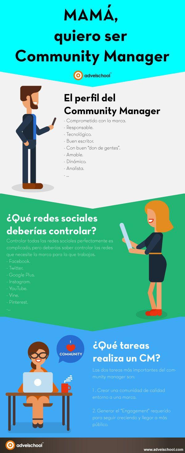 Community Manager para gestionar marcas en redes sociales, crear comunidades de éxito y generar Engagement. #SocialMedia #RedesSociales #CommunityManager