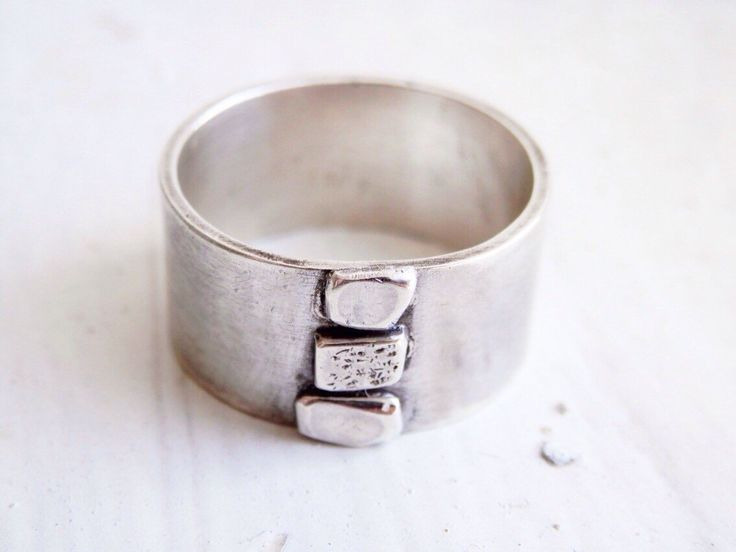 "Sterling Silver ""Little Nonsense"" ring.  Made from random off cuts of silver, so no two are the same..."