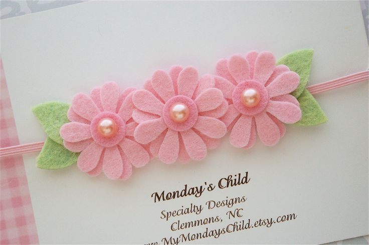 Felt Flower Headbands so many cute ideas!