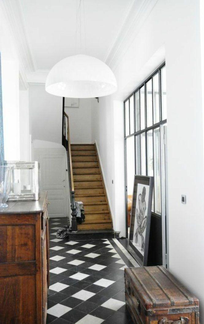 Couloir Noir Et Blanc 5 Idees Pour Creer La Surprise Blog Decoration Carrelage Noir Et Blanc Deco Design Deco Maison