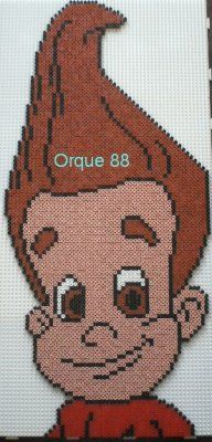 Jimmy Neutron hama beads by marmotte88130