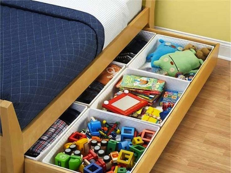 Take out A's trundle mattress and use for storage?