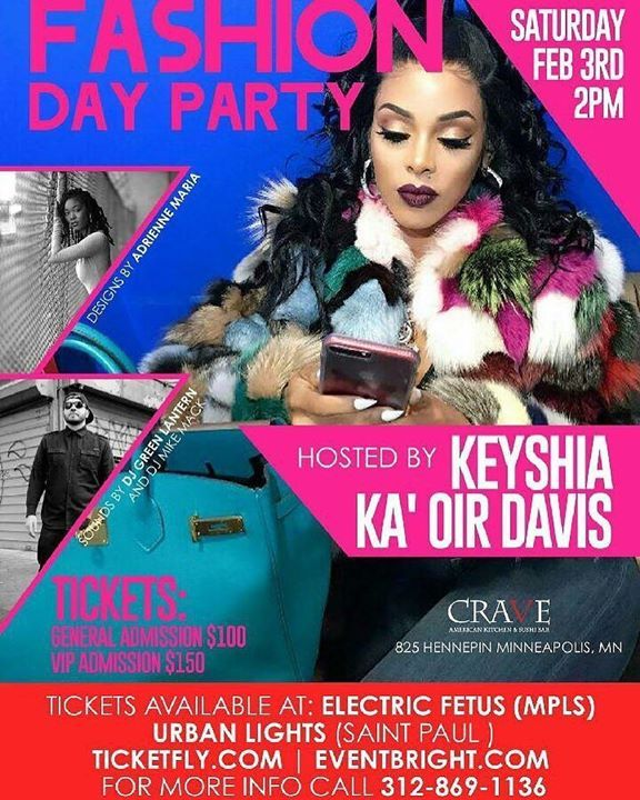 #KAOIR is in #Minneapolis for the #Superbowl!!! PULL UP! Meet @KeyshiaKaoir at the DAY PARTY at CRAVE! #KaoirFitness