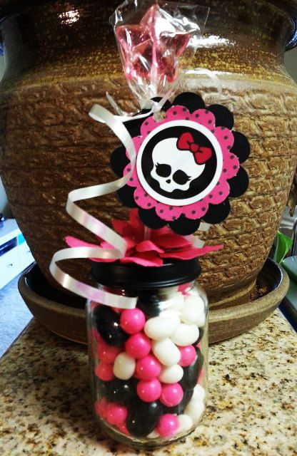 Monster High Baby Food Jar Party Favors by Stinkystuffs on Etsy, $6.75