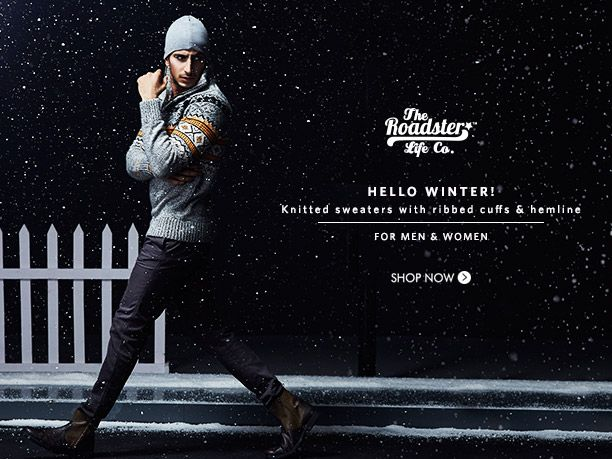 Buy roadster winter clothing online for men and women in India ...