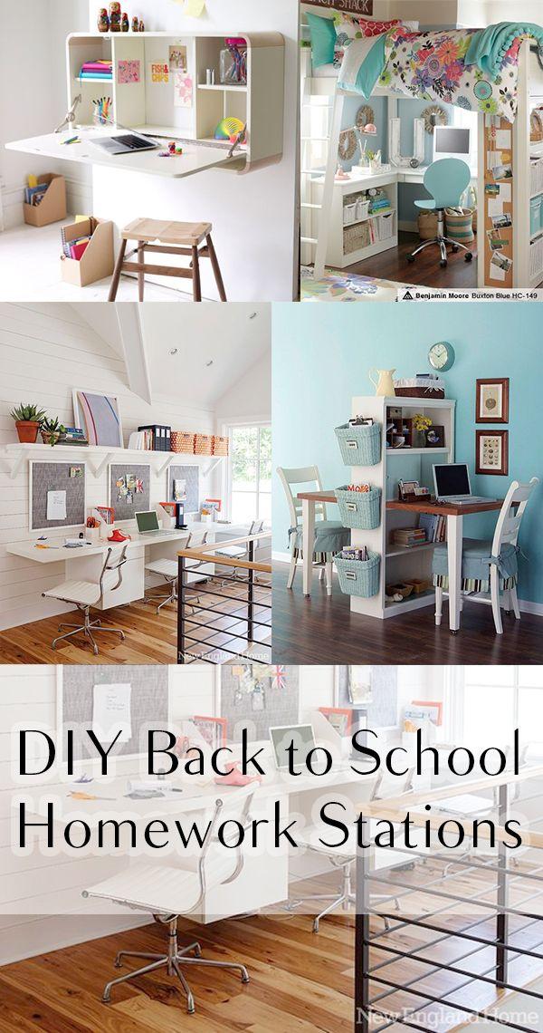 DIY Back to School Homework Stations