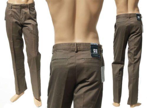 Dockers Khakis Pantaloni Uomo D3 SLIM Simples Pinces Verde Militare L34 W31 W34