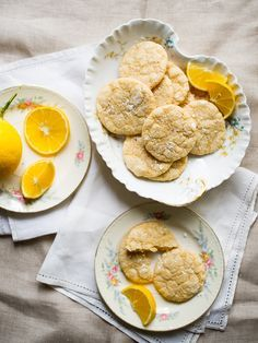Meyer Lemon Crinkle Cookies from White On Rice Couple