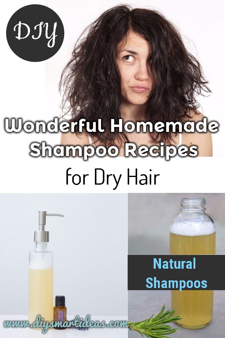 Wonderful Homemade Shampoo Recipes For Dry Hair Homemade Shampoo Recipes Homemade Shampoo Natural Shampoo Recipes