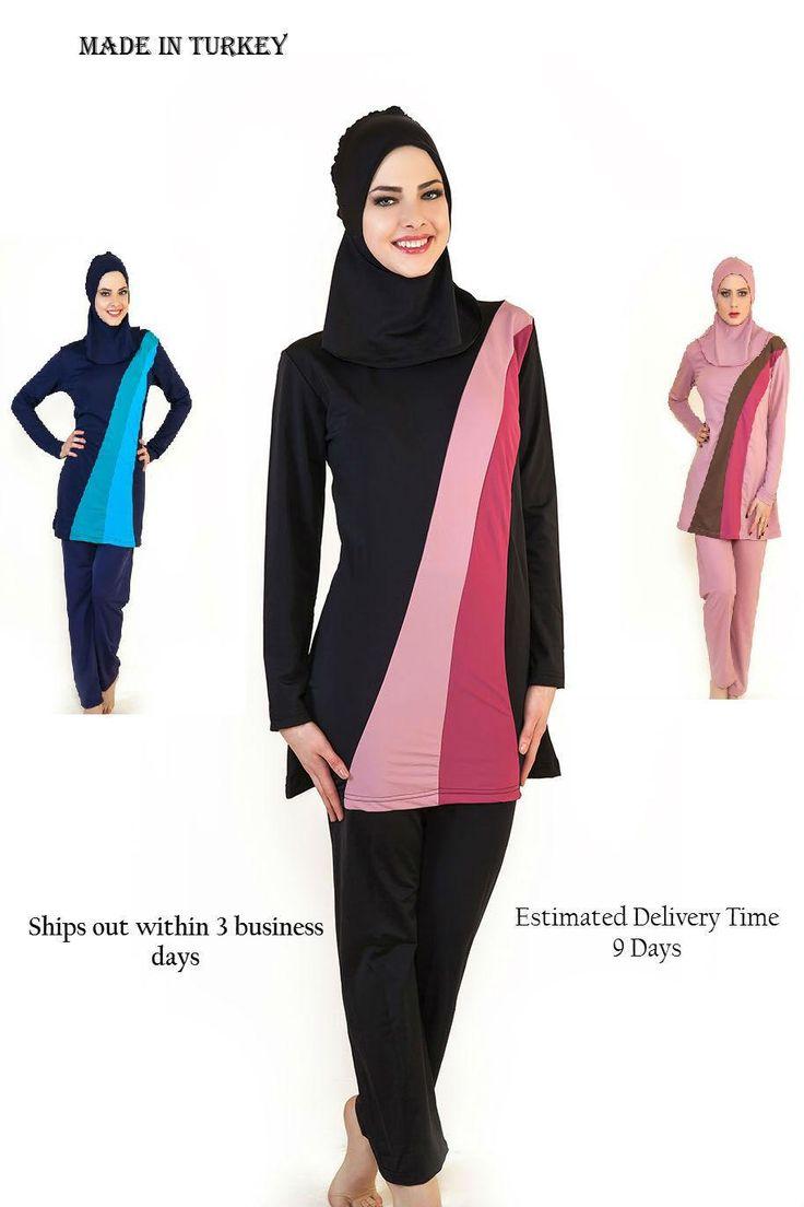 New Fashion Turkish Made Muslim Swimsuit Women islamic Swimwear Bikini Trend-in Bikinis Set from Women's Clothing & Accessories on Aliexpress.com | Alibaba Group