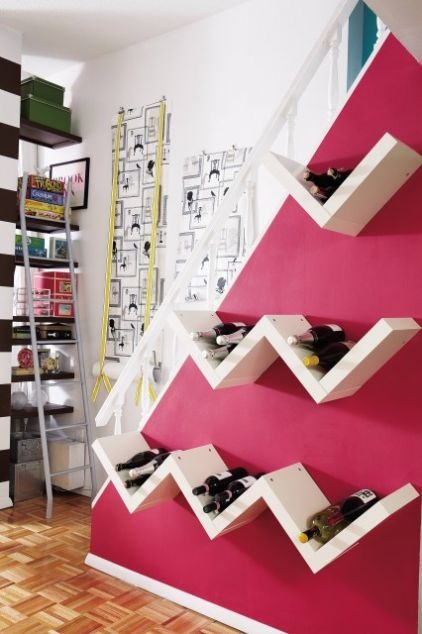 love this idea, I need a wall of wine!