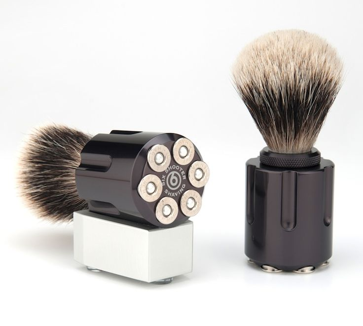 The Six Shooter Shaving Brush is one of the few bathroom items all men should have parked next to their toothpaste, the brush is made from high-grade...