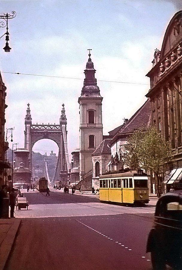 Old Elisabeth Bridge 1942 - Apponyi square