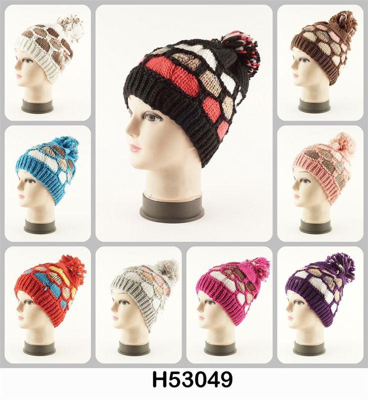 #Wholesale #Knit Crochet Multi Colors #Hat H53049