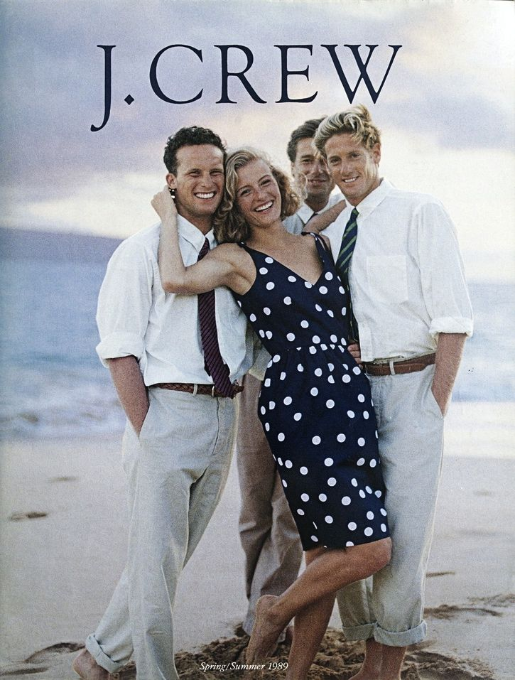 Jcrew Catalog SS 1989-- look how classic this is! And, what a lovely dress.