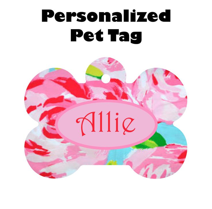 Personalized Lily Pulitzer Inspired Pet Tag, Personalized Pet Tag, Personalized Dog Tag, , Pet Tag, Dog Collar Tag, Custom Pet Tag, Dog Tag by SunshineSusieBtq on Etsy
