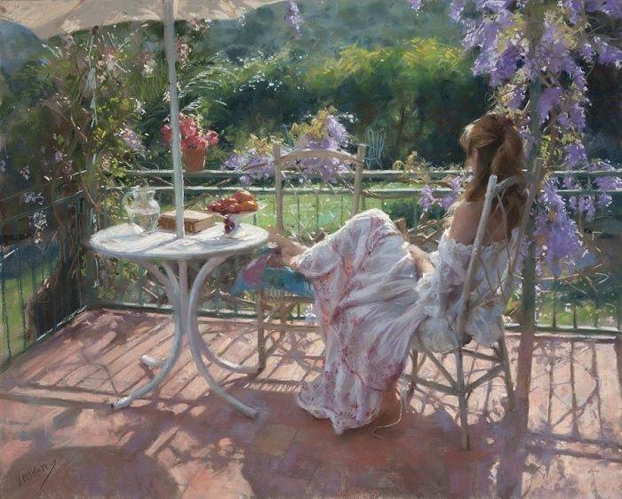 Женский образ в картине Висенте Ромеро.