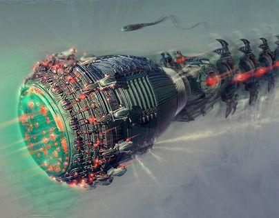 Ознакомьтесь с моим проектом в @Behance: «Biomechanical probe» https://www.behance.net/gallery/5442417/Biomechanical-probe