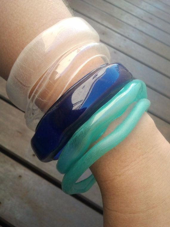 Plastic Mermaid Bangles - recycled plastic jewelry