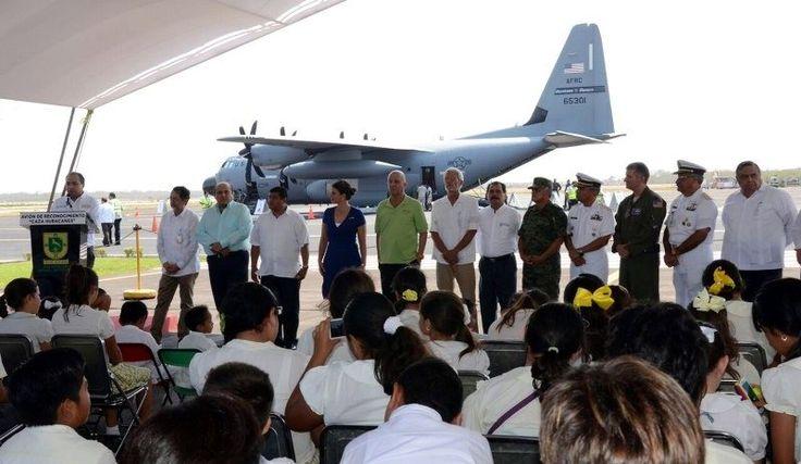 El Aeropuerto Internacional de Mérida recibió por tercera ocasión el Avión Caza Huracanes, de la Fuerza Aérea de Estados Unidos