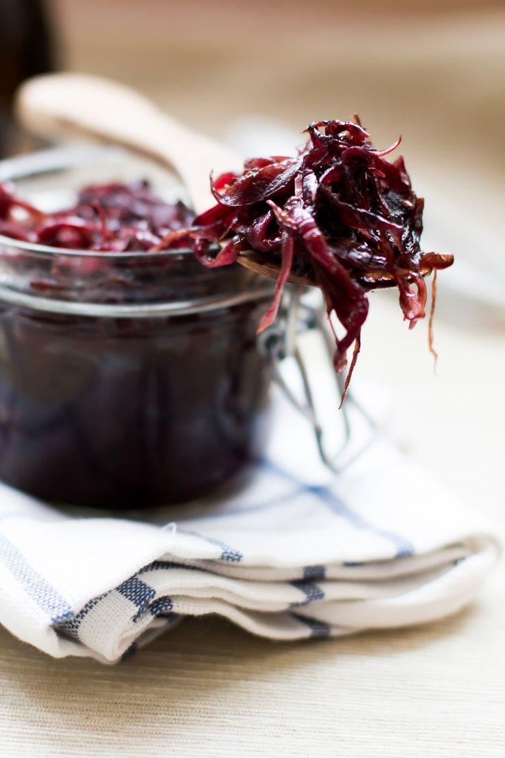 Lubię to...: Karmelizowana czerwona cebula z octem balsamicznym
