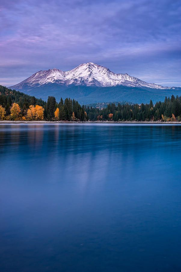 Mount Shasta at dusk, California-between Weed and Redding California- on Hwy 5-never tired of looking at ai as I passed by several times this past year-RR
