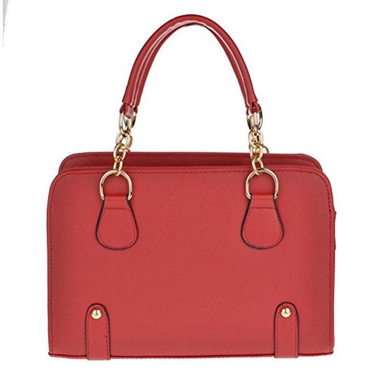 Color Scissor Women PU Leather Candy Color Tote Handbag Shoulder Bag